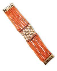 Lucky Brand | Orange Beaded Tennis Bracelet | Lyst