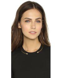 Rebecca Minkoff | Metallic Two Pyramid Collar Necklace - Gold | Lyst