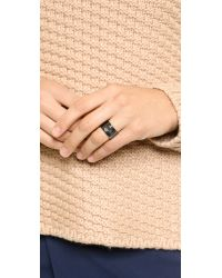 Luv Aj - Black Plain Ring - Gold - Lyst