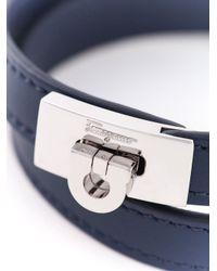 Ferragamo | Blue Gancio Wrap Bracelet for Men | Lyst