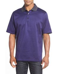 Bugatchi | Purple Loose-Fit Cotton Polo Shirt for Men | Lyst