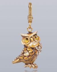 Jay Strongwater - Metallic Albert Owl Charm - Lyst