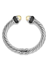 David Yurman | Metallic Cable Classics Bracelet With Gold Domes & Black Onyx | Lyst