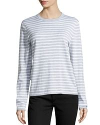 Michael Kors - White Striped Long-sleeve Top - Lyst