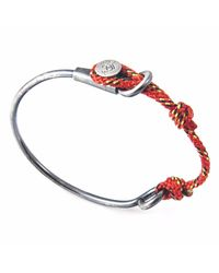 Anchor & Crew | All Red & Silver Navigation Wharf Bangle for Men | Lyst