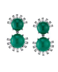 Asha | Tallulah Earrings, Green Chalcedony | Lyst