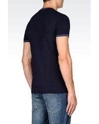 Armani Jeans - Blue Jersey T-shirt for Men - Lyst