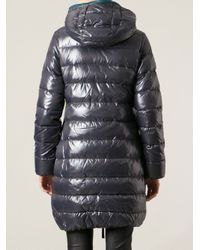 Duvetica - Blue Contrasting Zipper Long Padded Jacket - Lyst