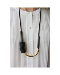 Maslo Jewelry | Metallic Chock A Block Necklace | Lyst