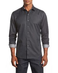 Robert Graham - Black 'delvin' Classic Fit Sport Shirt for Men - Lyst