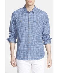 Robert Graham - Blue 'catch Surf' Tailored Fit Sport Shirt for Men - Lyst