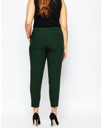 ASOS - Green Curve Cigarette Trouser In Crepe - Lyst