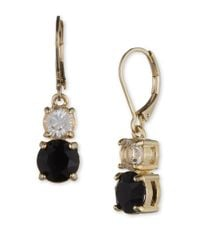 Anne Klein - Metallic Swarovski Crystal Jet Drop Earrings - Lyst