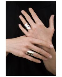 Saskia Diez | Metallic Mighty Flames Ring | Lyst