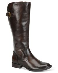 Born - Brown Tallulah Tall Boots - Lyst