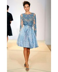 Temperley London | Blue Peony Long Sleeve Top | Lyst