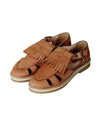 TOPSHOP - Brown Womens Kendra Fringed Shoes Tan - Lyst