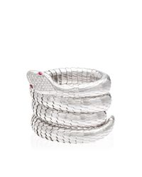 Sidney Garber | Metallic 18K White Gold Il Serpente Bracelet | Lyst