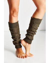 Urban Outfitters | Green Knit Legwarmer | Lyst