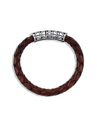 David Yurman | Brown Frontier Bracelet In Leather for Men | Lyst