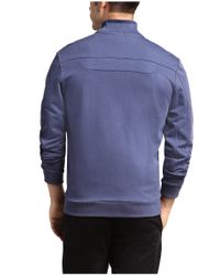 BOSS Green - Blue Sweatshirt Jacket 'skaz 1' In Cotton Blend for Men - Lyst