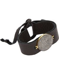 Feathered Soul - Black Diamond & Leather Bracelet - Lyst