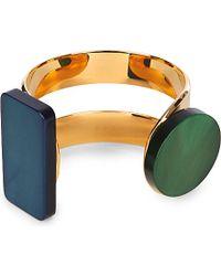Marni | Green Gold-toned Horn Cuff | Lyst