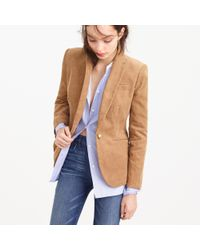 J.Crew | Brown Petite Campbell Blazer In Corduroy | Lyst