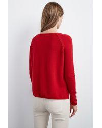 Velvet By Graham & Spencer - Red Ghala Cashmere Raglan Sweater - Lyst