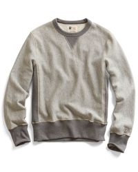 Todd Snyder | Gray Reverse Weave Sweatshirt In Grey Heather for Men | Lyst