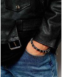 ASOS | Woven Bracelet Pack In Black With Khaki for Men | Lyst