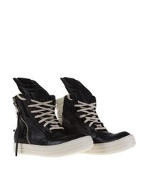 Rick Owens - White Shoes With Sole In Contrast - Lyst