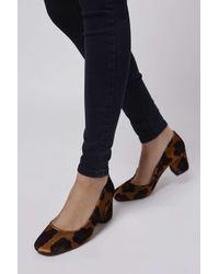 TOPSHOP - Multicolor Joni Velvet Mid Shoes - Lyst