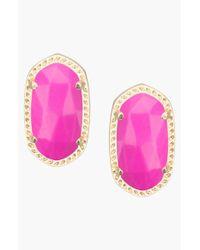 Kendra Scott - Purple 'ellie' Oval Stud Earrings - Magenta - Lyst