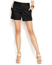 INC International Concepts - Black Twill Cuffed Shorts - Lyst
