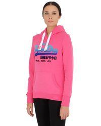 Superdry | Pink Vintage Logo Hooded Sweatshirt | Lyst