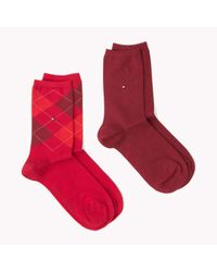 Tommy Hilfiger | Red 2-pack Socks | Lyst