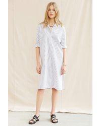 Urban Renewal - Blue Remade Oversized Poplin Shirt Dress - Lyst