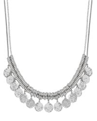 Lucky Brand | Metallic Hammered Coin Double Necklace | Lyst
