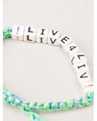 Venessa Arizaga | White 'live 4 Liv' Bracelet | Lyst