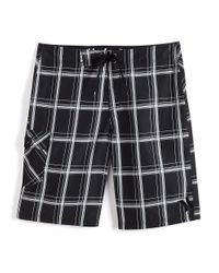 Hurley | Black Plaid Regenerated Board Shorts for Men | Lyst