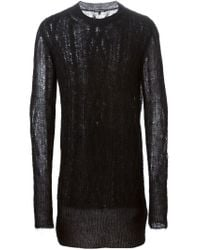 Ann Demeulemeester - Black Cable Knit Long Sweater for Men - Lyst