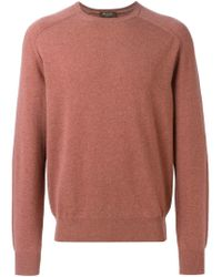 Loro Piana - Pink Crew Neck Sweater for Men - Lyst