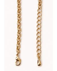 Forever 21 - Orange Heirloom Faux Stone Necklace - Lyst