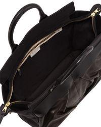 Rag & Bone | Black Pilot Large Leather Satchel Bag | Lyst