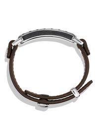 David Yurman - Modern Cable Id Bracelet In Army Green for Men - Lyst