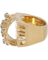 Chloé - Metallic Gold and Swarovski Bianca Ring - Lyst