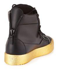 Giuseppe Zanotti - Black Men's Leather High-top Sneaker for Men - Lyst