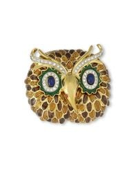 Kenneth Jay Lane | Brown Owl Brooch | Lyst