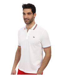 Lacoste - White Live Short Sleeve Semi-fancy Pique Shirt - Lyst